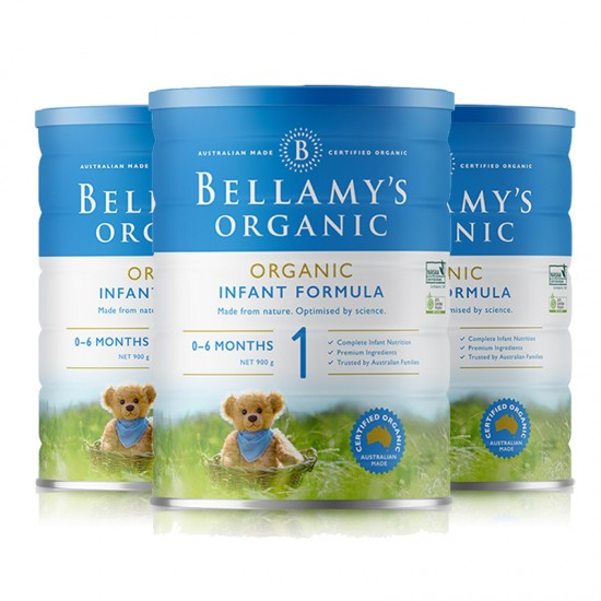 【B1】贝拉米奶粉1段3罐(澳洲直邮)保质期:12/2020