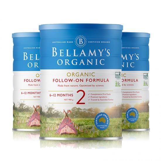 【B2】贝拉米奶粉2段3罐(澳洲直邮)保质期:09/2020