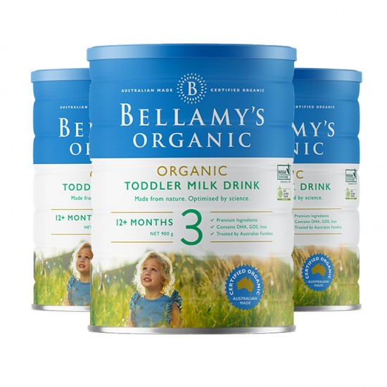 【B3】贝拉米奶粉3段3罐(澳洲直邮)保质期:09/2020
