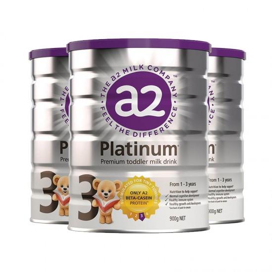 【A2】A2金装奶粉3段3罐(澳洲直邮)保质期:03/2021