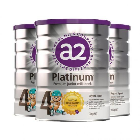 【A2】A2金装奶粉4段3罐(澳洲直邮)保质期:02/2021