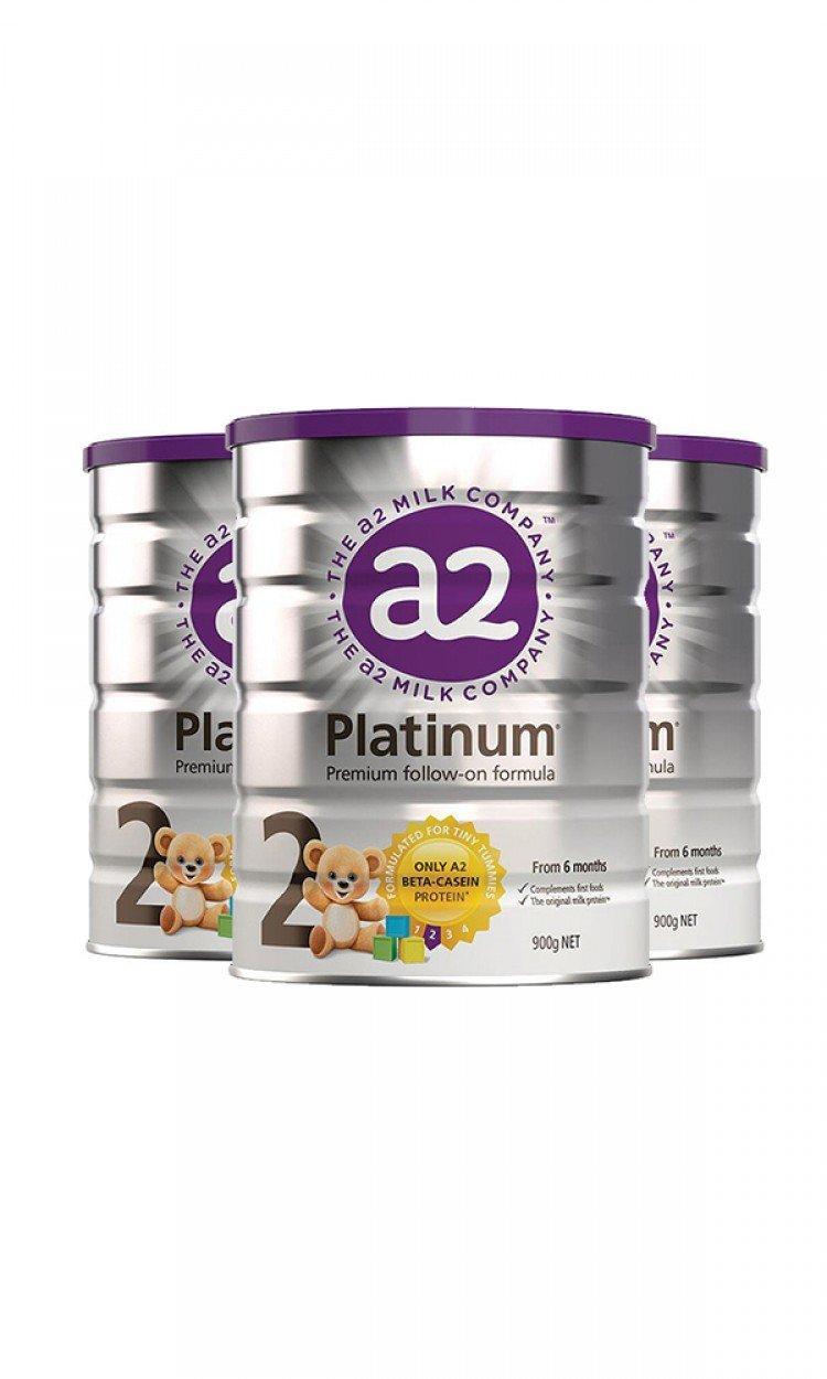 【A2】A2金装奶粉2段3罐(澳洲直邮)保质期:12/2021