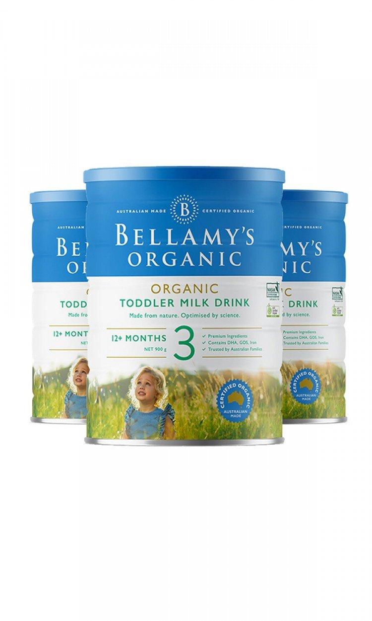 【BELLAMYS】B3贝拉米奶粉3段3罐(澳洲直邮)保质期:07/2021
