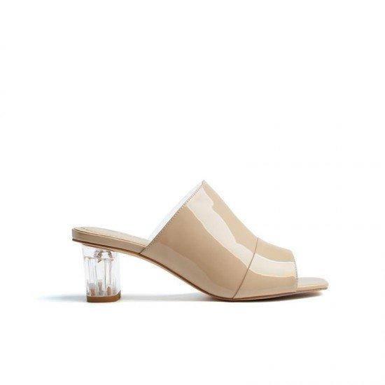 【DK】DK629裸色漆皮+PVC凉鞋(澳洲直邮)